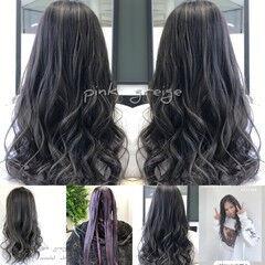 バレイヤージュ 外国人風カラー ブルージュ バックコーミング ヘアスタイルや髪型の写真・画像