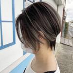 コントラストハイライト 3Dハイライト ベリーショート ショートヘア