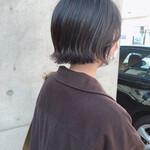 ミニボブ 切りっぱなしボブ ショートヘア 黒髪