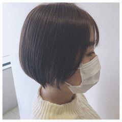 ショートヘア ショート フェミニン モテボブ ヘアスタイルや髪型の写真・画像
