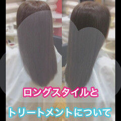 髪質改善 髪質改善トリートメント ロング 大人ロング ヘアスタイルや髪型の写真・画像