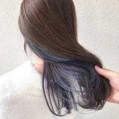 ユニコーンカラー 外国人風カラー インナーカラー オーロラカラー ヘアスタイルや髪型の写真・画像