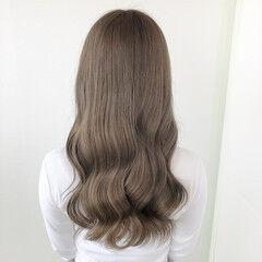 髪質改善 髪質改善トリートメント ナチュラル ミルクティーベージュ ヘアスタイルや髪型の写真・画像