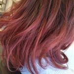 グラデーションカラー ピンク レッド