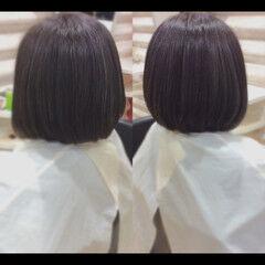 髪質改善トリートメント ボブ ナチュラル 艶髪 ヘアスタイルや髪型の写真・画像