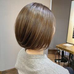 ボブヘアー ボブ ハイライト 大人ハイライト ヘアスタイルや髪型の写真・画像