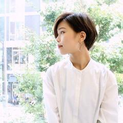大人女子 ショート ナチュラル ショートヘア ヘアスタイルや髪型の写真・画像