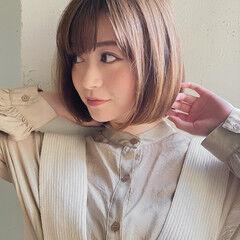 外国人風 レイヤースタイル オレンジベージュ レイヤーカット ヘアスタイルや髪型の写真・画像
