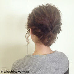 ツイスト ヘアアレンジ 大人女子 大人かわいい ヘアスタイルや髪型の写真・画像