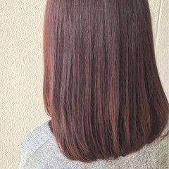 ボブ ベリーピンク 色気 ストリート ヘアスタイルや髪型の写真・画像