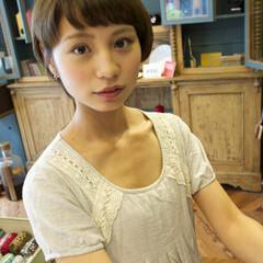 外国人風 大人かわいい フェミニン ショートボブ ヘアスタイルや髪型の写真・画像