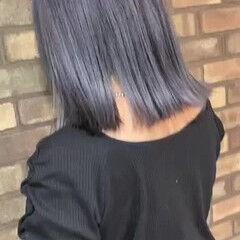 ミディアム ダメージレス シルバー アディクシーカラー ヘアスタイルや髪型の写真・画像