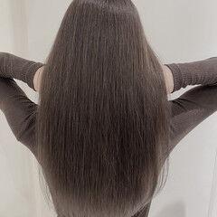 圧倒的透明感 アッシュグレー アッシュグラデーション ロング ヘアスタイルや髪型の写真・画像
