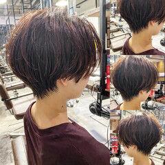 ショートヘア 丸みショート ショート ハンサムショート ヘアスタイルや髪型の写真・画像