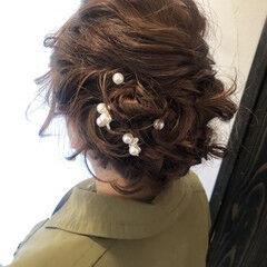 フェミニン セミロング セット ヘアスタイルや髪型の写真・画像