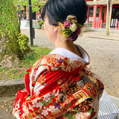 ミディアム 結婚式 ブライダル フェミニン ヘアスタイルや髪型の写真・画像