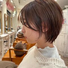 ウルフカット シースルーバング ボブ ショートヘア ヘアスタイルや髪型の写真・画像