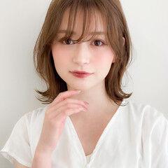 ミディアム 髪質改善トリートメント 縮毛矯正ストカール ひし形シルエット ヘアスタイルや髪型の写真・画像