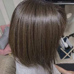 アッシュグレージュ ミルクティーグレージュ ハイライト 3Dハイライト ヘアスタイルや髪型の写真・画像