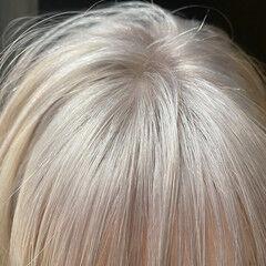 ボブ ホワイトベージュ ショートボブ ストリート ヘアスタイルや髪型の写真・画像