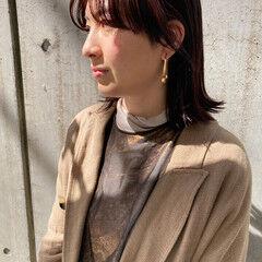 ウルフカット ナチュラル ラベンダーピンク ピンクバイオレット ヘアスタイルや髪型の写真・画像