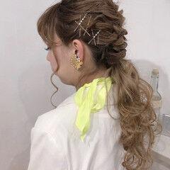 お呼ばれヘア ヘアアレンジ ロング デート ヘアスタイルや髪型の写真・画像