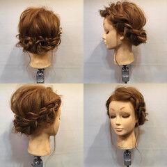 後れ毛 セミロング フェミニン 結婚式 ヘアスタイルや髪型の写真・画像