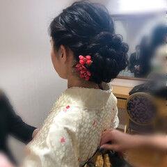 アップ 和装髪型 フェミニン 和装ヘア ヘアスタイルや髪型の写真・画像