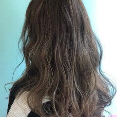 ミント ガーリー グレー ブリーチカラー ヘアスタイルや髪型の写真・画像
