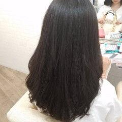 黒髪 縮毛矯正 エレガント ストカール ヘアスタイルや髪型の写真・画像