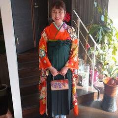 袴 卒業式 簡単ヘアアレンジ ナチュラル ヘアスタイルや髪型の写真・画像