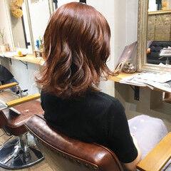 ナチュラル ピンクアッシュ アプリコット ショート ヘアスタイルや髪型の写真・画像