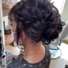 ロング ブライダル アップ アップスタイル ヘアスタイルや髪型の写真・画像