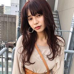 ナチュラル ミディアム オレンジブラウン ナチュラル可愛い ヘアスタイルや髪型の写真・画像