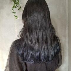ネイビーカラー 韓国 ネイビー ストリート ヘアスタイルや髪型の写真・画像