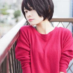 黒髮 かわいい ショート ボブ ヘアスタイルや髪型の写真・画像