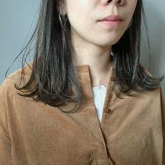暗髪 外国人風カラー ナチュラル スモーキーカラー ヘアスタイルや髪型の写真・画像