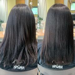ナチュラル ミディアム 縮毛矯正 ヘアスタイルや髪型の写真・画像