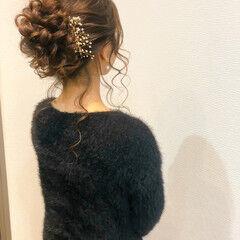 ブライダル アップスタイル 結婚式 フェミニン ヘアスタイルや髪型の写真・画像