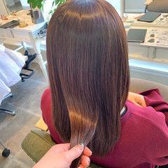 イルミナカラー 髪質改善トリートメント フェミニン セミロング ヘアスタイルや髪型の写真・画像