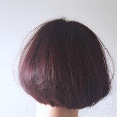 冬 カシスレッド 大人かわいい デート ヘアスタイルや髪型の写真・画像