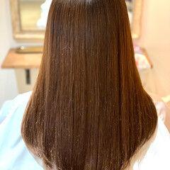 ブラウンベージュ 艶カラー うる艶カラー ブランジュ ヘアスタイルや髪型の写真・画像