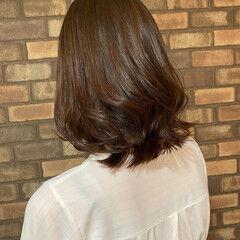 ピンクブラウン ナチュラル イルミナカラー 艶髪 ヘアスタイルや髪型の写真・画像