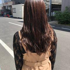 ブラウンベージュ ナチュラルブラウンカラー ブラウン 秋ブラウン ヘアスタイルや髪型の写真・画像