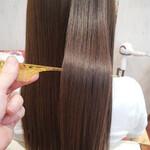 うる艶カラー ストレート 髪質改善トリートメント フェミニン