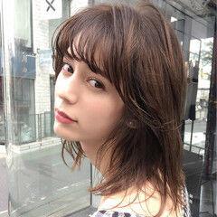 セミロング 大人女子 小顔 ヘアアレンジ ヘアスタイルや髪型の写真・画像