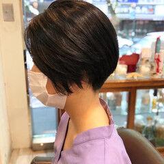 ショートボブ モード ショート 刈り上げ ヘアスタイルや髪型の写真・画像
