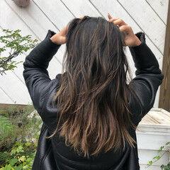 ビーチガール グラデーションカラー ハイライト ナチュラル ヘアスタイルや髪型の写真・画像