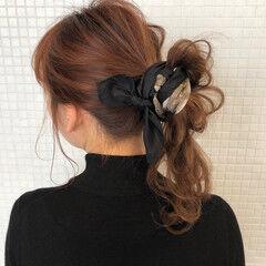 簡単ヘアアレンジ お団子アレンジ ガーリー ターバン ヘアスタイルや髪型の写真・画像