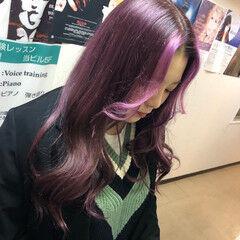 派手髪 モード ピンク ダブルカラー ヘアスタイルや髪型の写真・画像